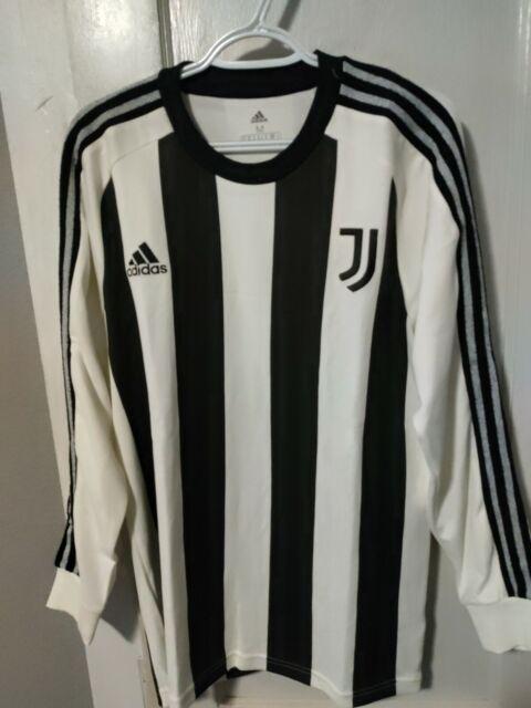 2020-2021 Adidas Juventus Soccer Long Sleeve Icons Jersey Men's Size Medium New