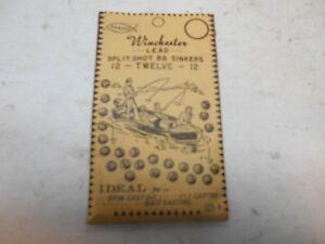 Vintage New Old Stock Famous Winchester Lead Split Shot Bb Sinker 12 Twelve 12 Ebay