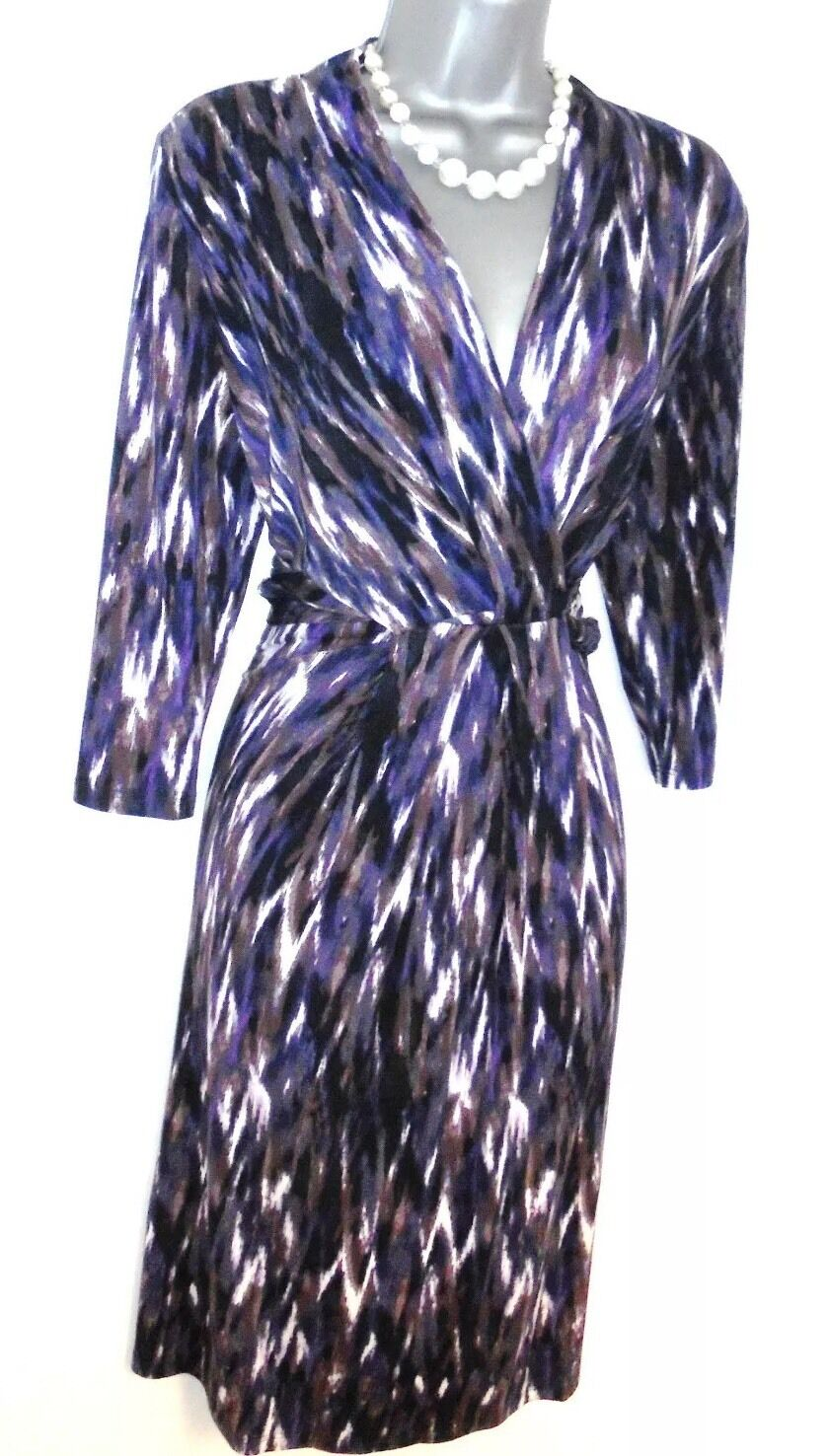Stunning Phase Eight Print Jersey Evening Occasion Day  Dress 12