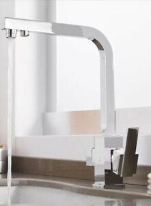 Miscelatore Cromo Rubinetto 3 Vie Moderno Cucina Depuratore Osmosi Ebay