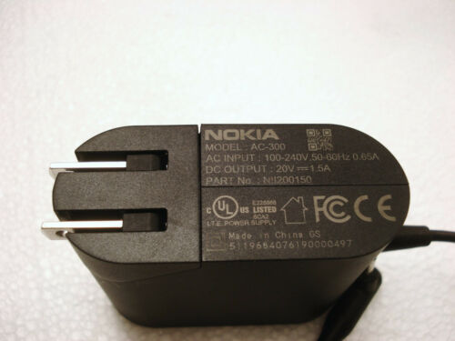NEW OEM Nokia Lumia 2520 tablet 30W 20V 1.5A AC Adapter Charger NII200150 AC-300