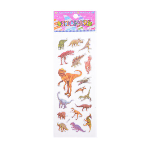 10 pcs dinosaur Stickers 3D children cartoon Scrapbooking puffy Kids gift SG