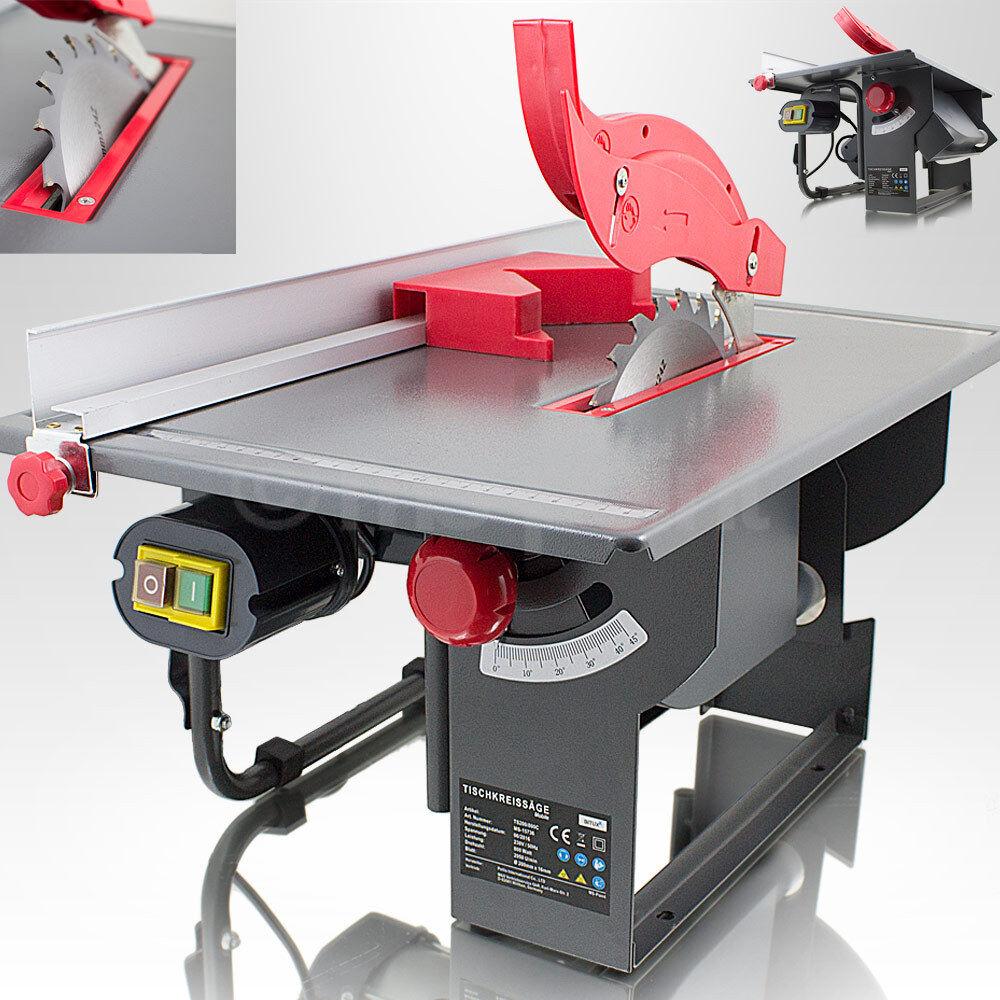 Tischkreissäge mobile Kreissäge elek. Heimwerker Tischsäge 800W Gehrungssäge