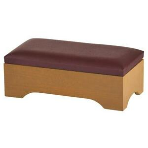 Personal-Kneeler-with-Storage-Pecan-Stain-Maple-Hardwood