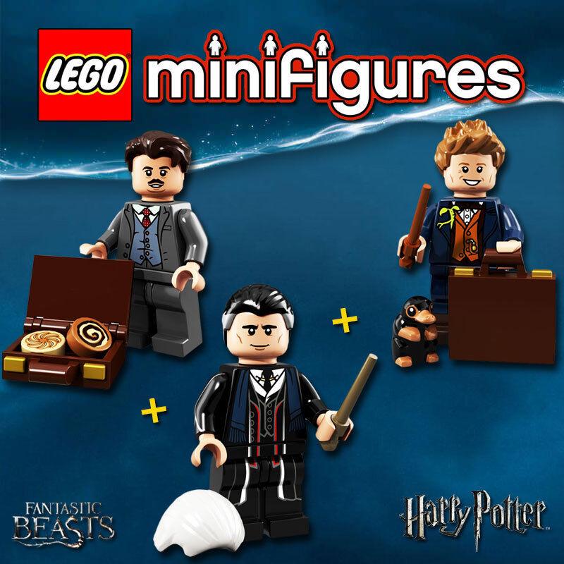 LEGO Minifigures 71022-17, 71022-19, 71022-22 - Dragonneau + Kowalski + Graves