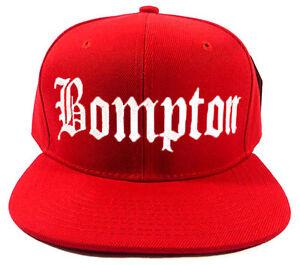 f1f4471c01481 Image is loading BOMPTON-BOMPTON-RED-SNAPBACK-CAP-HAT
