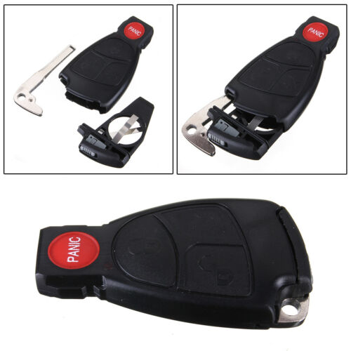 Keyless Entry 3 Key Smart Case With Panic Button Fit For Mercedes Benz Car Key