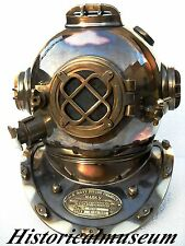 Antique Vintage Copper Diving Divers Helmet Maritime U.S Navy Mark V HM834
