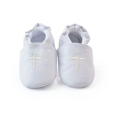 Nuevo Bautizo Bautismo Bebé Niño Niña Zapatos para Formal Boda Suela Suave Cruz 0-12 M