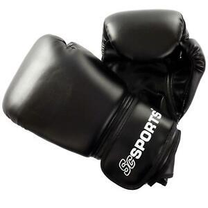 ScSPORTS Boxhandschuhe 16 oz Boxen Boxsackhandschuhe Boxhandschuh schwarz
