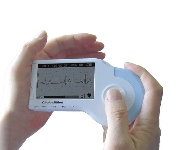 Heal Force Portable Handheld LCD Easy ECG Heart Monitor Electrocardiogram Detect