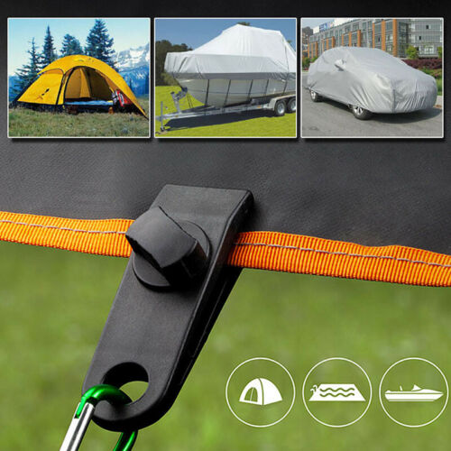 10pc Awning Tarp Clamp Clip Hanger Emergency Survival Tent Grommet Camping YU