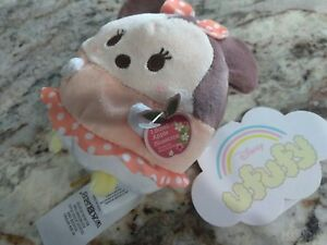 NWT-minnie-mouse-ufufy-Plush-toy-Disneyland-Disney-Store-scented-apple-blossoms
