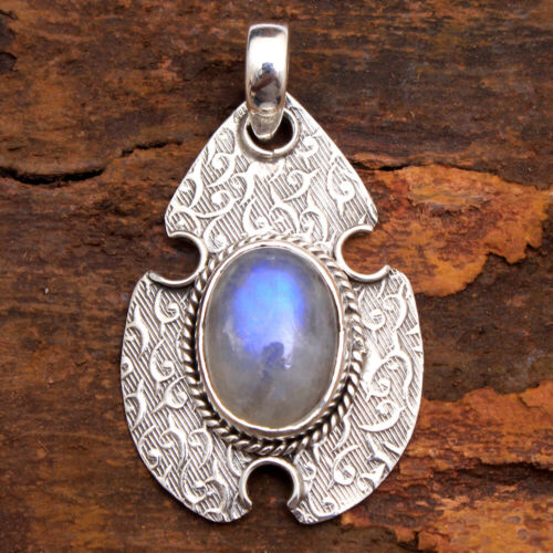 Moonstone Solid 925 Sterling Silver Jewelry Designer Pendant For Mother/'s Day