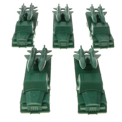 Military Model Playset Toy Soldiers Army Men Accessory 5pcs Missile Truck