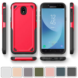 buy online 0a873 d65e8 Details about Case For Samsung Galaxy J3 J5 J7 Pro 2017 Shockproof Slim  Soft Rubber Back Cover