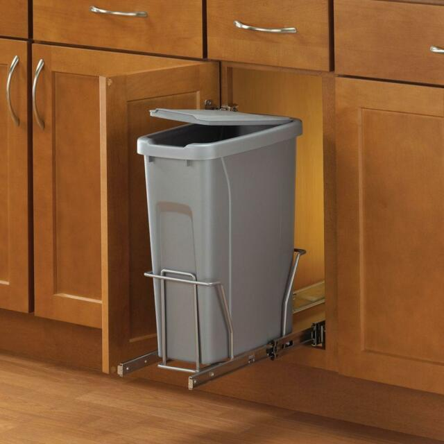 In Cabinet Kitchen Trash Waste Garbage Can Container Pull Sliding Out  Hardware