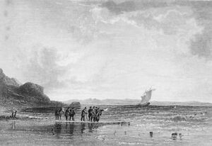 Scotland SOLWAY FIRTH CUMBERLAND GALWAY BAY SAILBOAT ~ 1831 Art Print Engraving