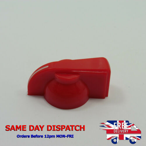 En plastique rouge Potentiomètre Knob Cap 6 mm Dia Arbre Trou Pot Rotary Control T180