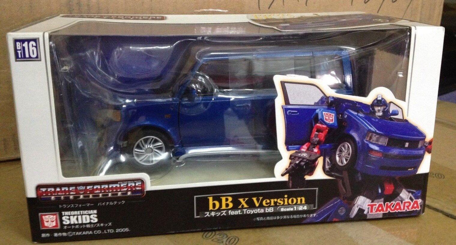 2005 Transformers BT series Toyota Bb X Skids Robots 1 24 TAKARA JP ver diecast