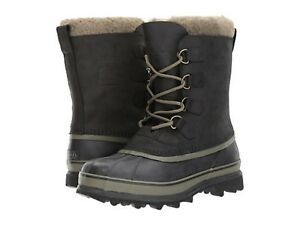 New-Men-039-s-Sorel-Caribou-Black-Tusk-Cold-Weather-Winter-Boots-NIB