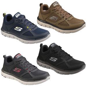 Dettagli su Skechers Flex Advantage 2.0 Scarpe Da Ginnastica Con Lacci  Sport Allenamento Training Sneaker Da Uomo- mostra il titolo originale