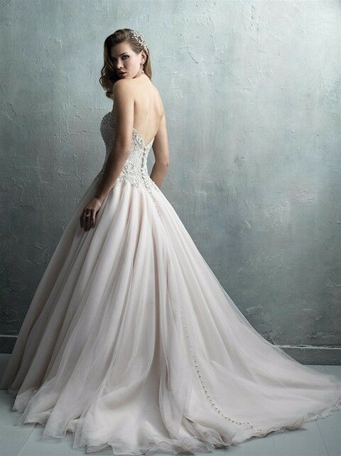 Wedding Dress Allure Couture C323 Size 10 - image 2