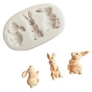 Lapin-silicone-fondant-moule-lapin-chocolat-gumpaste-moule-Cake-decors-outil