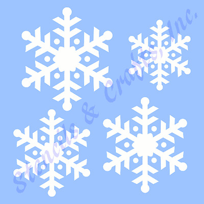 SNOWFLAKES STENCIL 4 SIZES CHRISTMAS SNOWFLAKE PAINT ART PATTERN CRAFT #9 NEW
