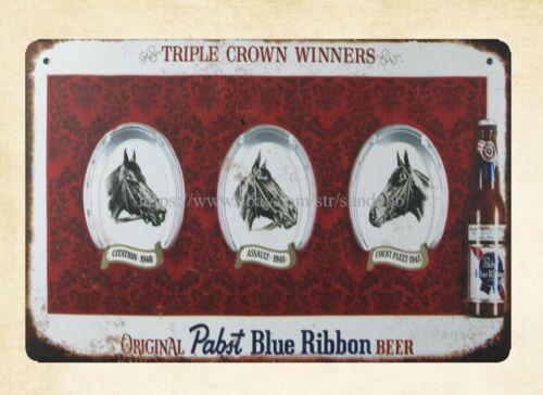 tin signs sale Pabst Blue Ribbon BEER Brew Liquor shop metal tin sign