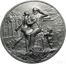 1909 Antique French Author VICTOR HUGO Medal like coin of France Besancon i60046