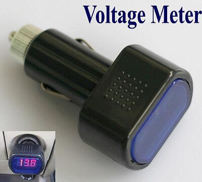 Auto 12V-24V LED Zigarettenanzünder Batterie Tester Spannungsanzeige Voltmeter