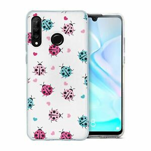 For-Huawei-P30-LITE-Silicone-Case-Ladybird-Pattern-S7722