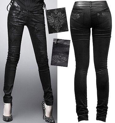 Pantalon Jeans Gothique Lolita Baroque Destroy Jacquard Vieilli Fashion Punkrave