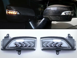 Sequential-Turn-Signal-LED-Light-Side-Door-Mirror-Smoke-For-15-19-Subaru-WRX-STi