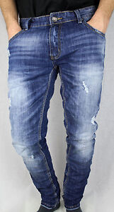 bc5594403f3c Caricamento dell'immagine in corso Pantalone-jeans-Adrexx-uomo-elasticizzato -stretto-a-sigaretta-
