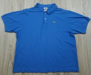 Lacoste-Men-039-s-Polo-Shirt-Short-Sleeve-Size-8-Blue-Pull-Over-Golf-Casual-Dress