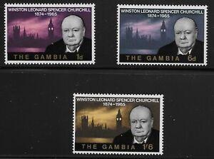 Gambia-Scott-212-14-Singles-1966-Complete-Set-FVF-MNH