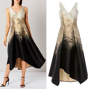 Coast-Erla-Jacquard-Maxi-Midi-Dress-in-Gold-RRP-195-Sizes-6-to-18