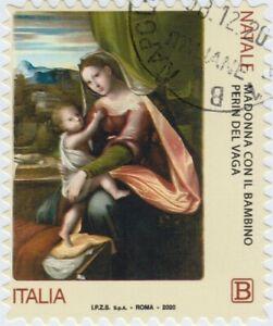 2020-Italia-Repubblica-Natale-religioso-Madonna-Perin-del-Vaga-Usato