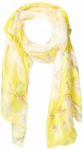 Cejon Women's Scarf Yellow White One Size Floral-Print Lightweight $34 983