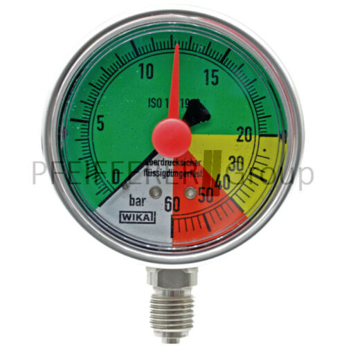 0-20-40-60 Wika fitosanitario manómetro área de impresión bar