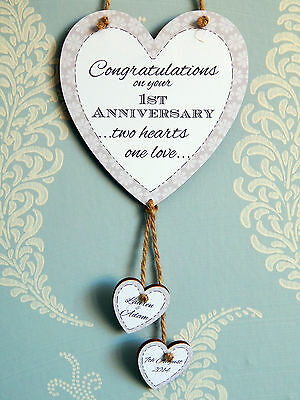 Personalised 50th wedding anniversary heart gift plaque