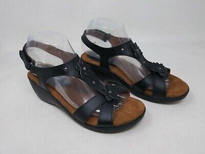 New w//Defect Womens Thom McAn 52195 Wanda Embellished Slingback Sandal Black E14