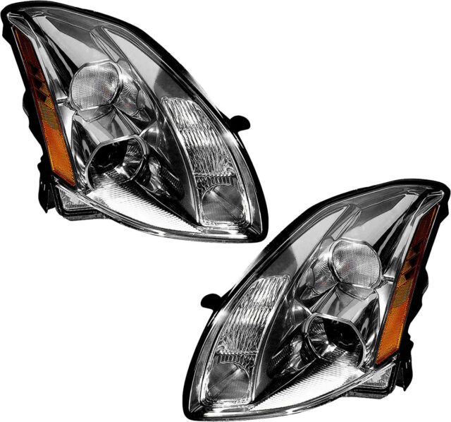 Hid Headlights Headlamp Assembly W  Bulb New Pair Set For 2005