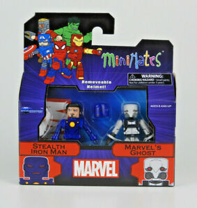 Marvel Minimates Series 80 Espionage Stealth Iron Man & Ghost 2 Pack Figures NEW