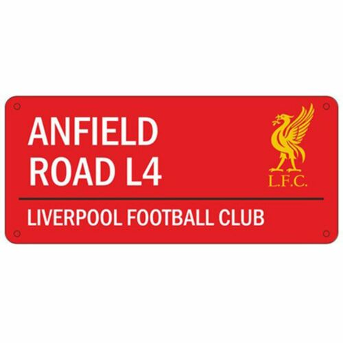 LIVERPOOL FC /'ANFIELD ROAD/' STREET ROAD SIGN NEW RED 100/% OFFICIAL FOOTBALL