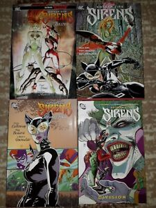 GOTHAM CITY SIRENS HC TPB lot #1-4 Guillem March Harley Poison Ivy Catwoman DC