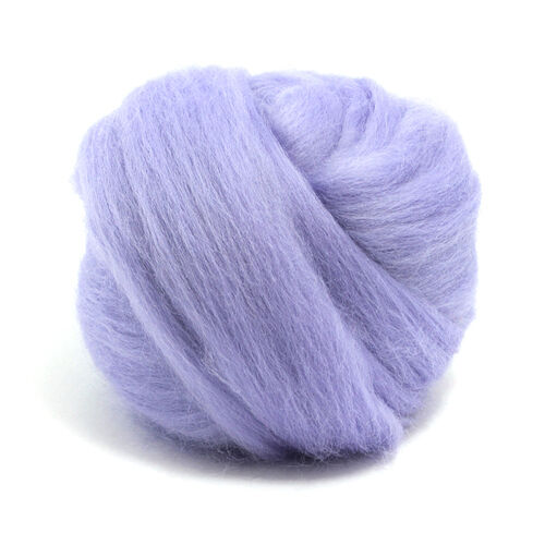 100g DYED MERINO WOOL TOP HYACINTH PURPLE DREADS 64's SPINNING FELTING ROVING
