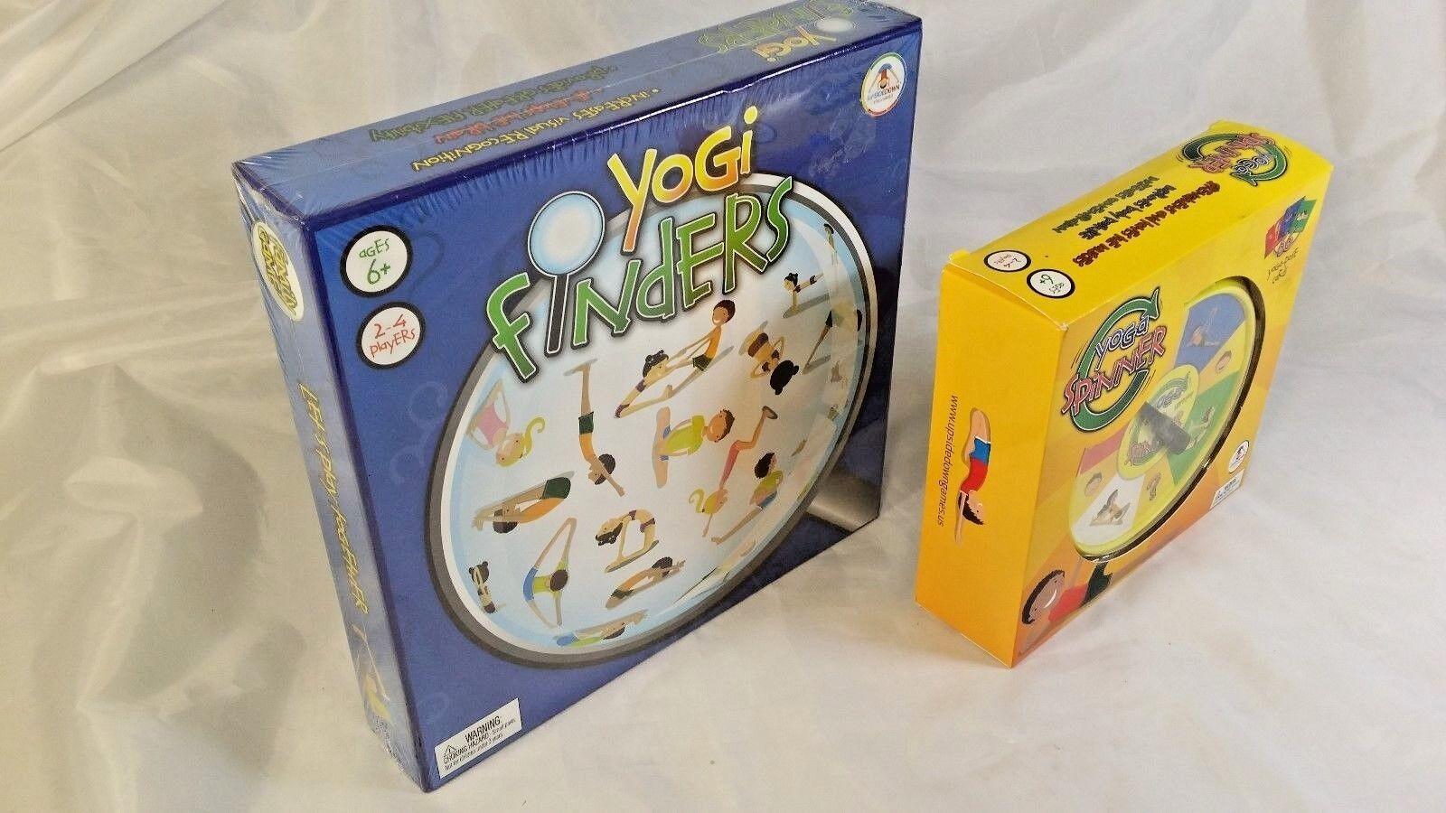 2 New UpsideDown Yoga Games YOGA SPINNER & YOGI FINDER Strengthen Mind & Body